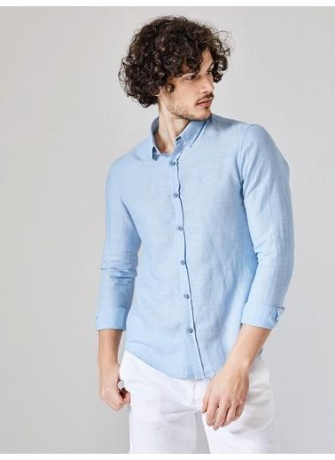 Xint Uzun Kollu Gömlek Mavi